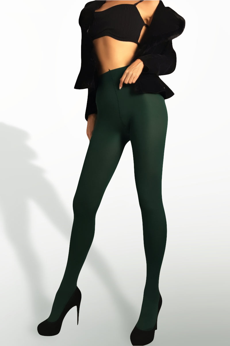 Microfiber Tights 100 Denier - Green