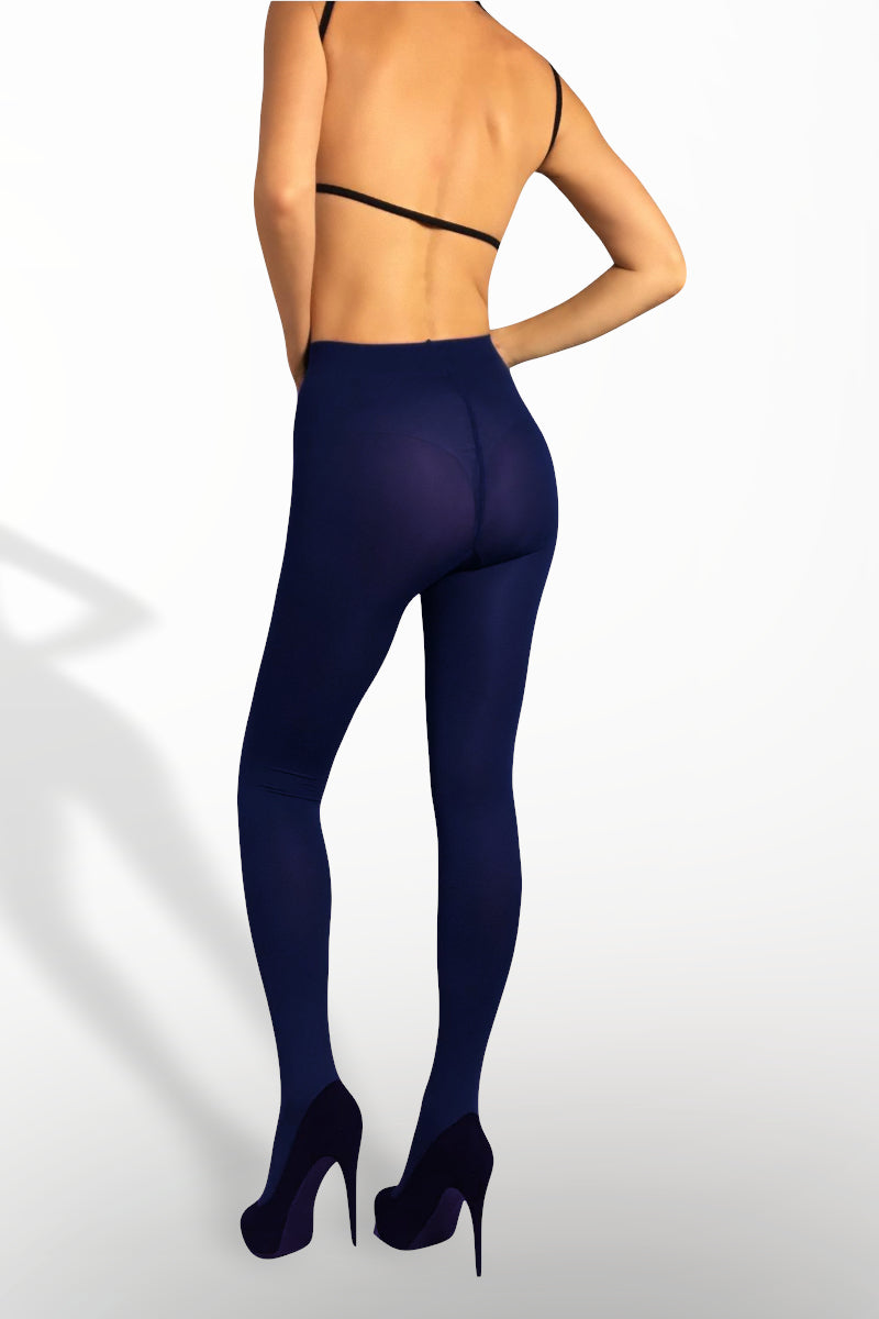 Microfiber Tights 100 Denier - Navy Blue