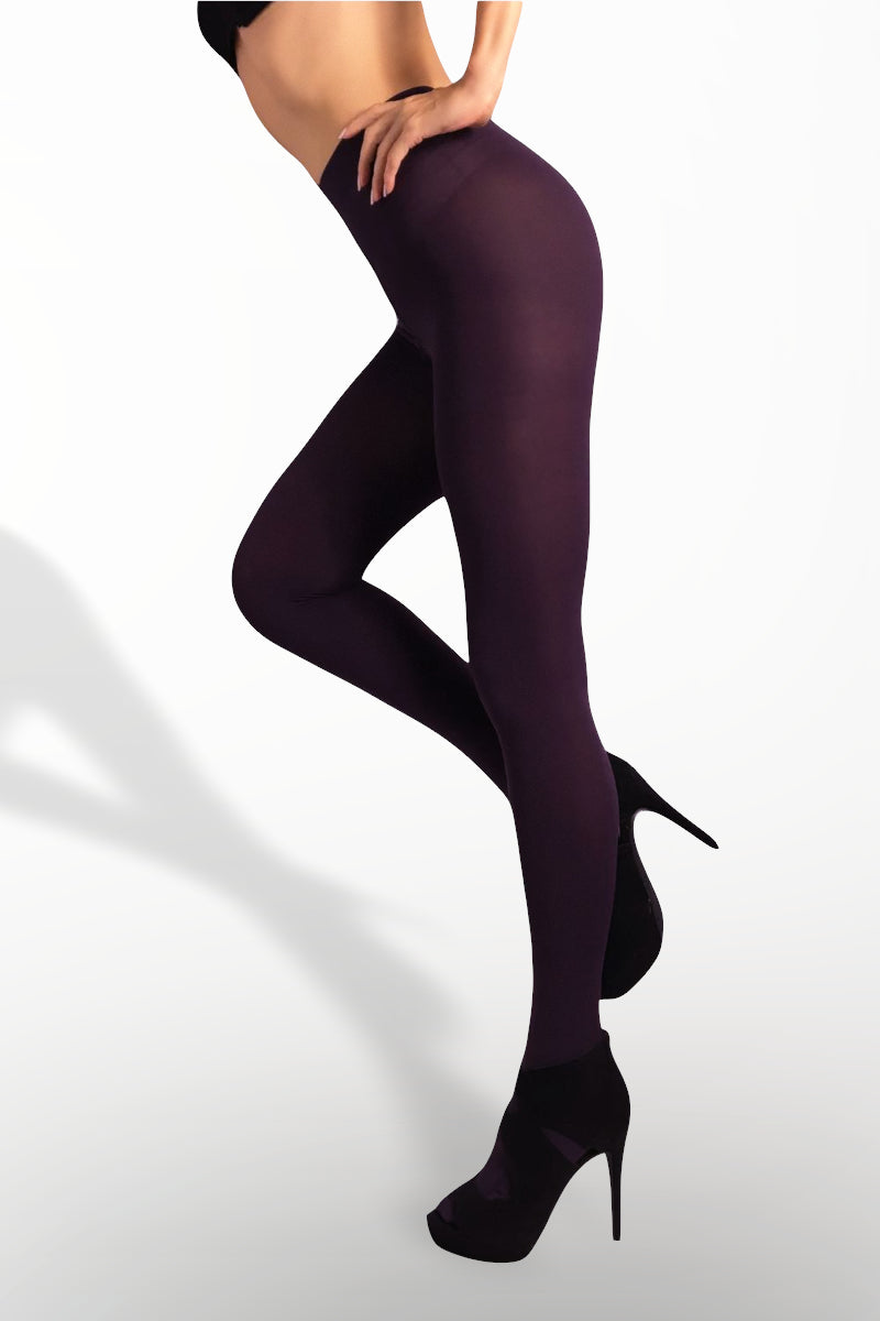 Microfiber Tights 100 Denier - Purple