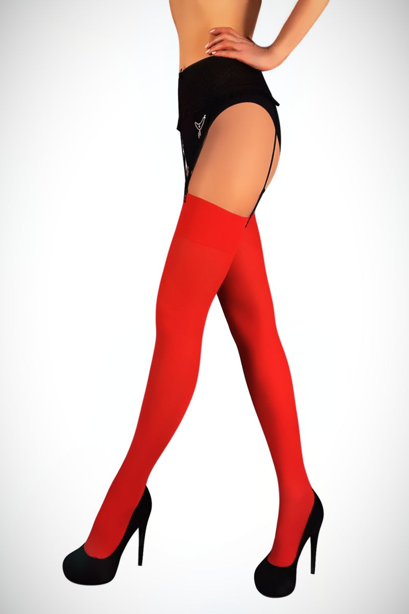Stockings 40 Denier - Red