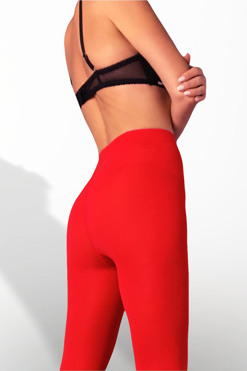 Microfiber Tights 100 Denier - Red