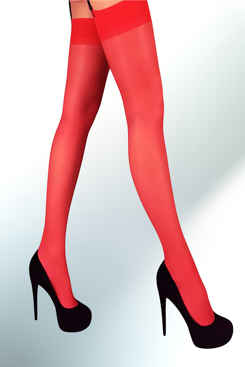 Garter Stockings 20 Den - Red