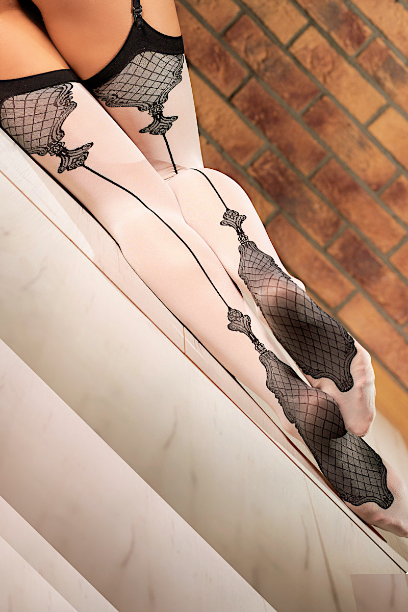 Patterned Stockings - 40 Denier