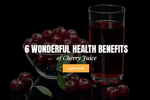 cherry juice and fruit in glass