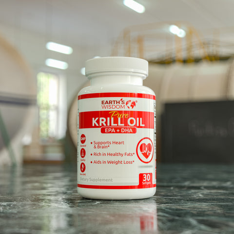earths wisdom krill oil softgels wild caught krill epa dha