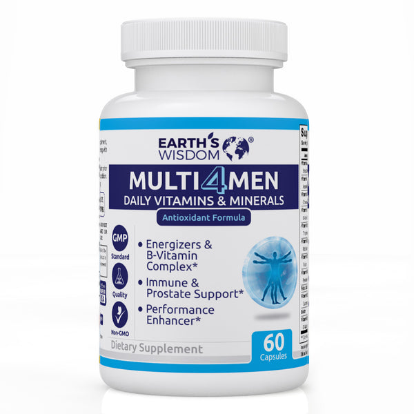 earths wisdom natural nongmo mens multivitamin