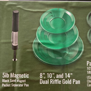 11 peice gold panning kit