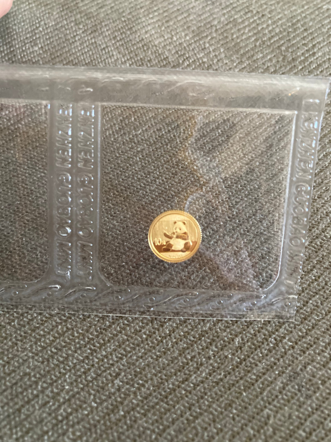 China 2017 Gold Panda 1 gram 10 Yuan. Original sealed.