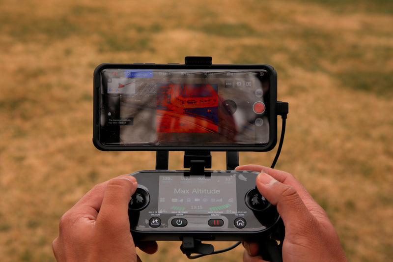 Autel Evo II Dual displays the aircraft's thermal image capability
