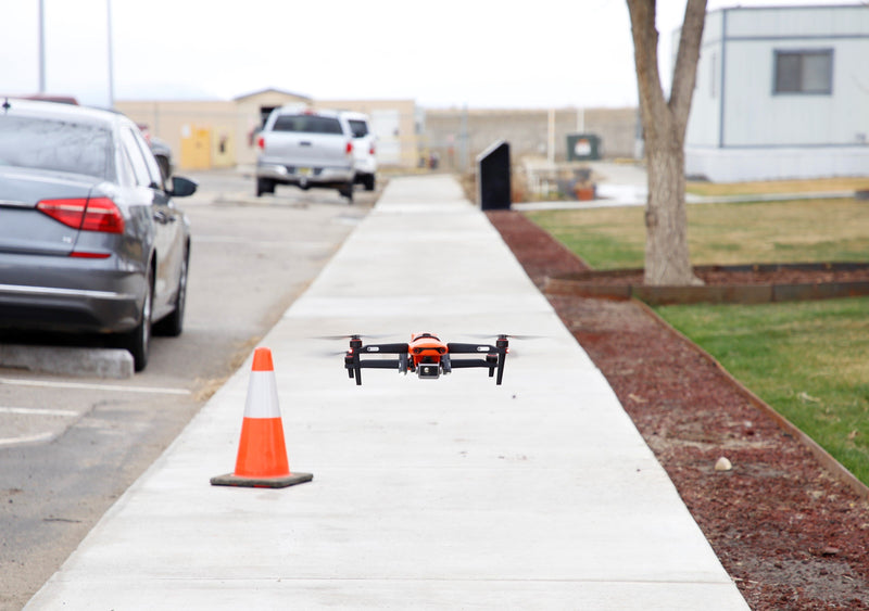 EVO II Dual drone lands after the flight demonstration