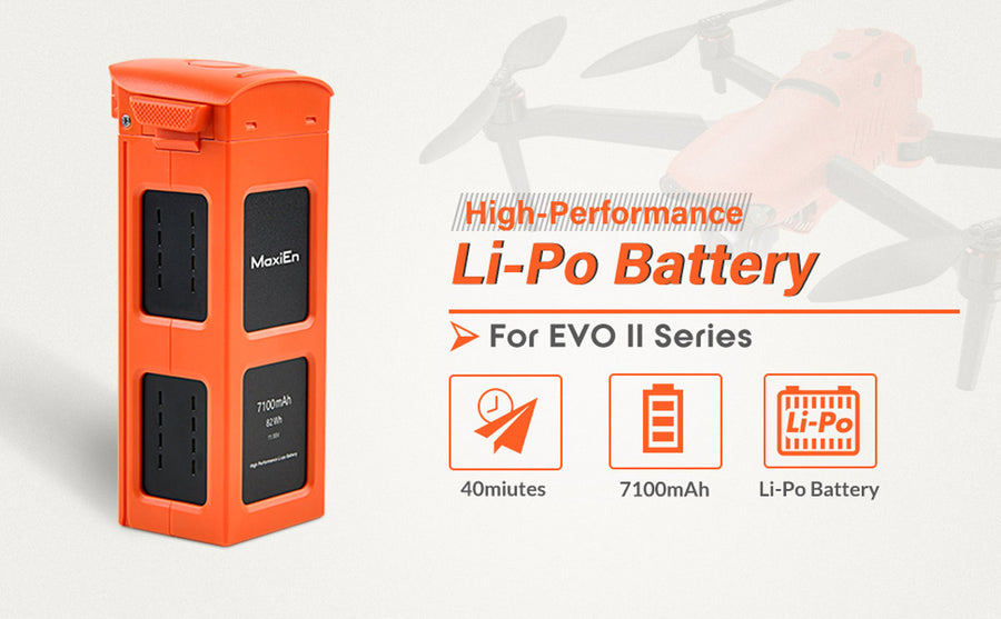 Autel EVO II battery 7100mAh Li-po battery offer you extra 40 minutes of flight
