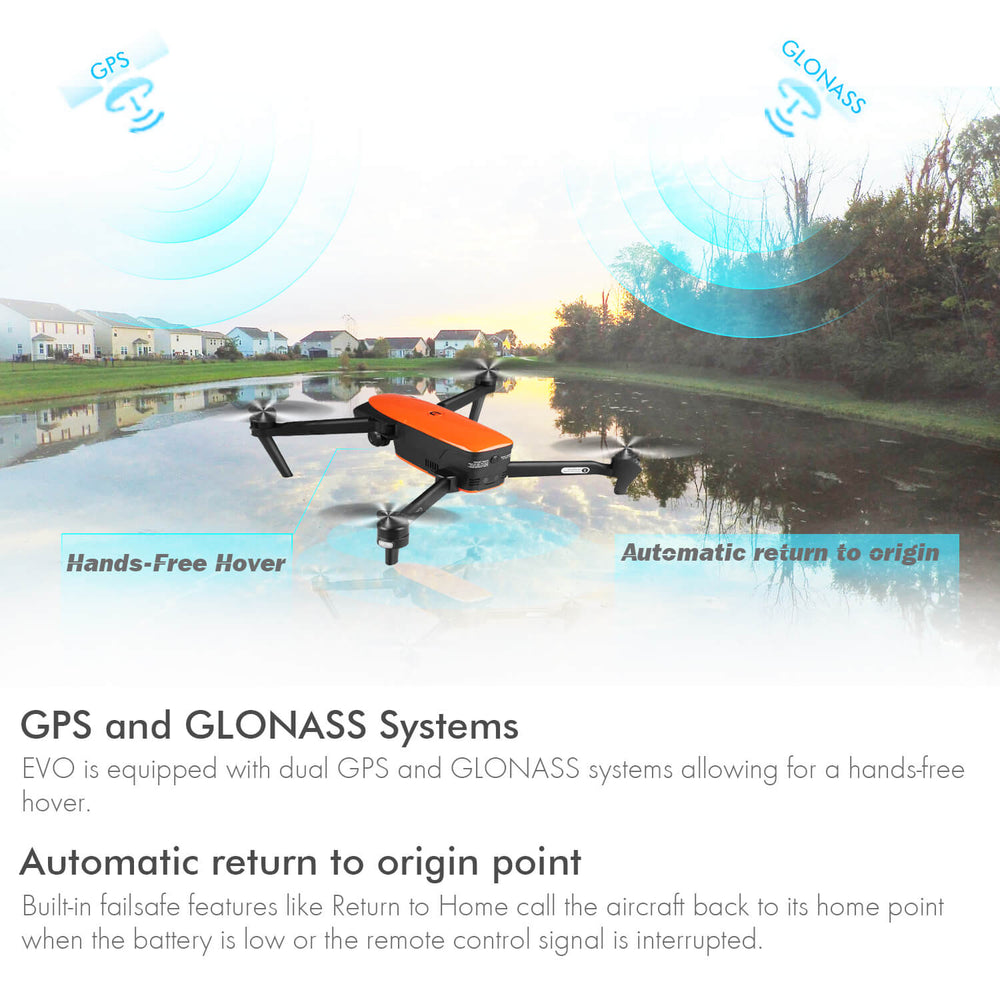 Autel evo drone GPS and GLONASS Positioning