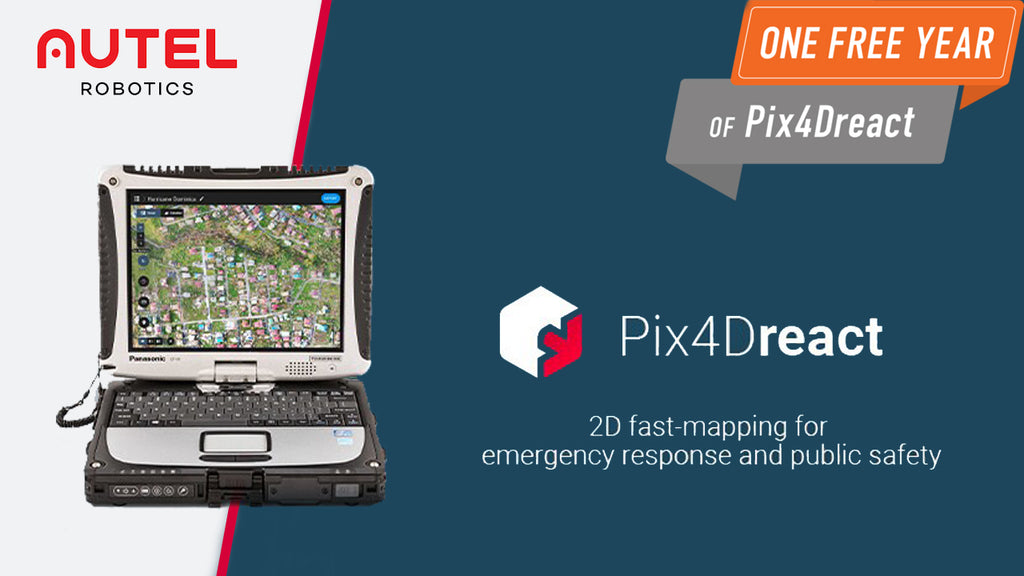 Get 1 Year Free Pix4Dreact With EVO II Rugged Bundle