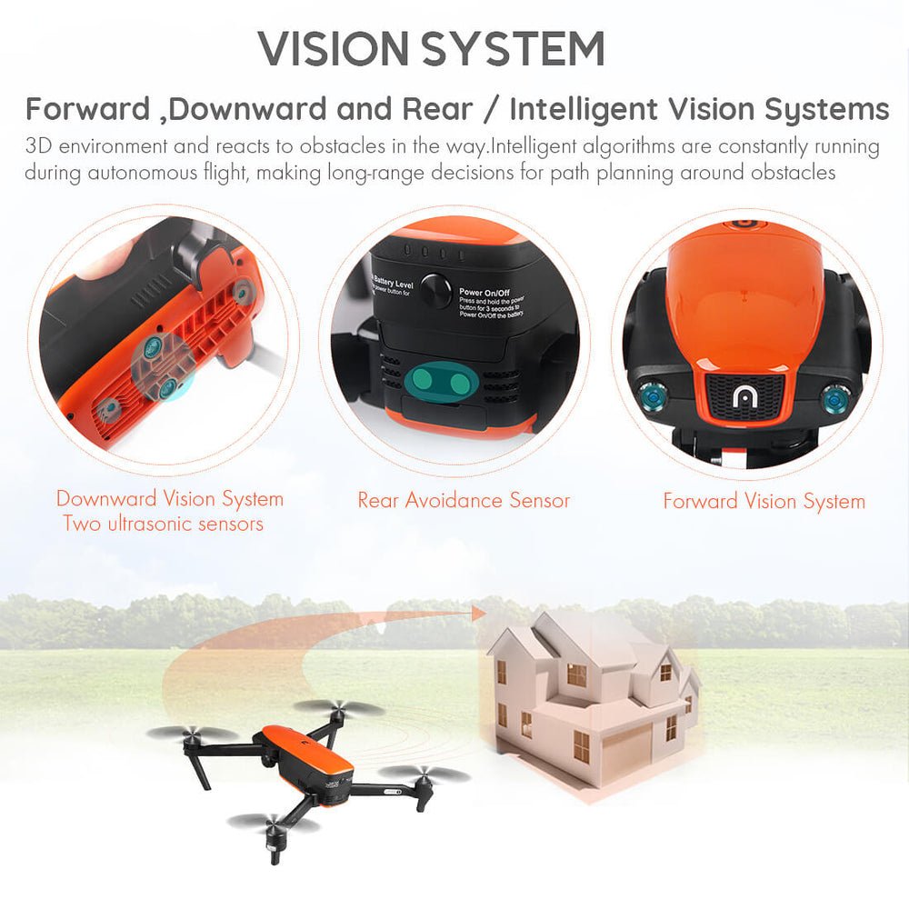 Autel evo drone 3 Intelligent avoid obstacles (Forward, Downward and Rear)