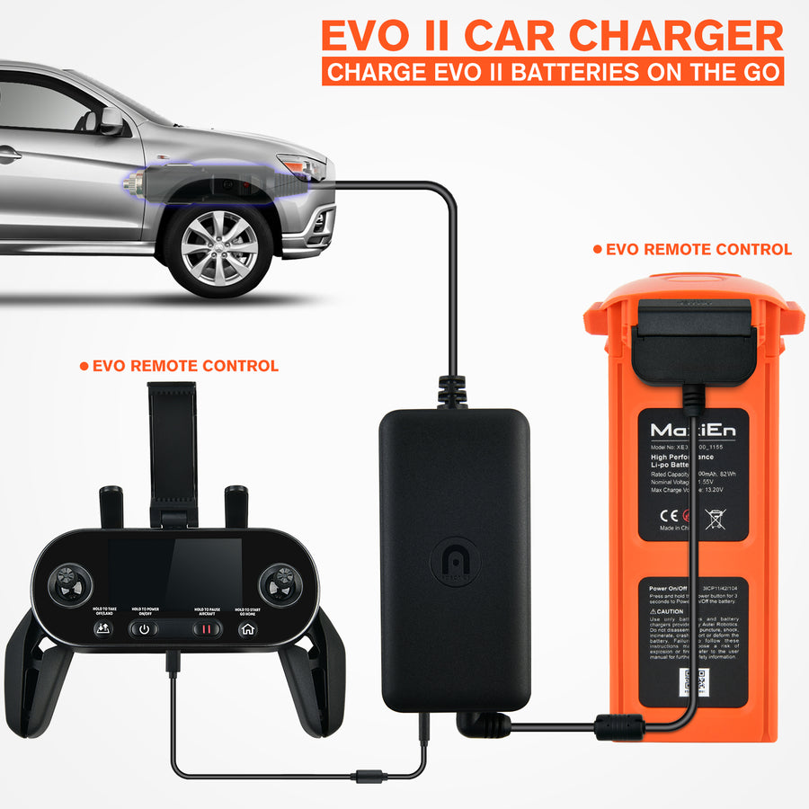 Autel EVO II Car Charger For EVO II Battery and Remote Controller