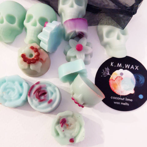 Flowers and Skulls - Soy Wax Melts  - Coconut Lime Scent