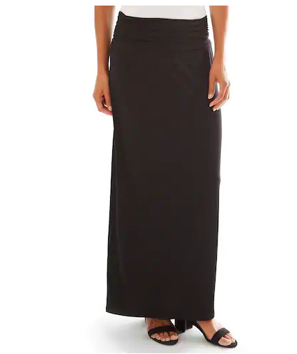 Apt.9 Black Maxi Skirt