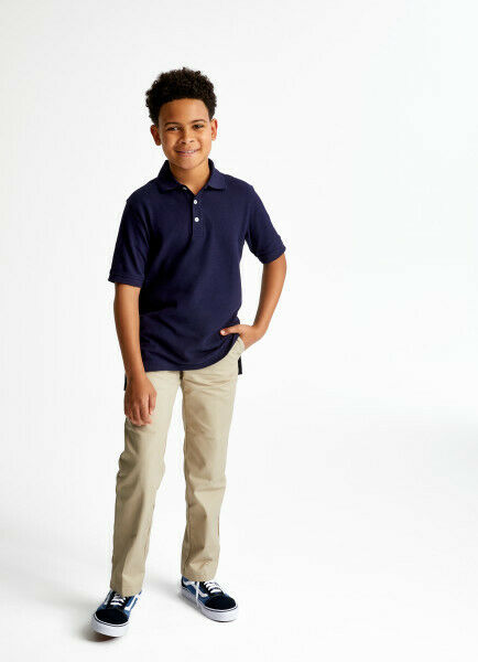 French Toast Boys' Short Sleeve Pique Polo Uniform (Sizes: XS-XXL)