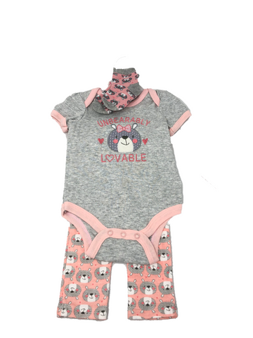 Baby Girl 3 Piece Set