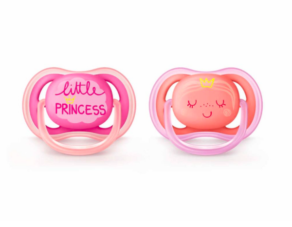 Avent Philips Baby Ultra Air Pacifier 2 Pack 6-18 Months_Little Princess