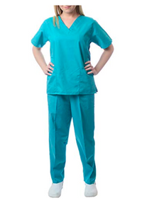 Sherly Uniforms Womens' Medical Scrub Set_ Teal