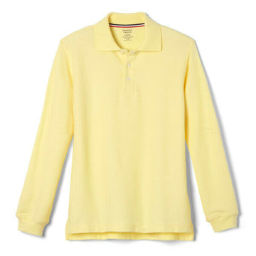 French Toast Boys Long Sleeve Pique Polo Uniform (Sizes: L, XL, XXL)