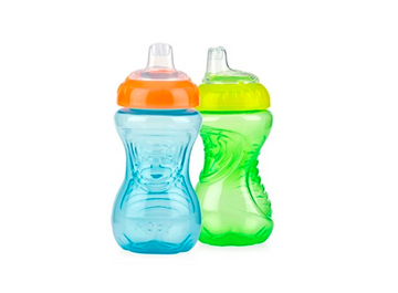 Nuby 2-Pack No-Spill Easy Grip Cup, 10 Ounce