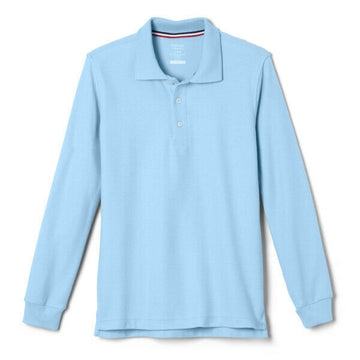 French Toast Boys Long Sleeve Pique Polo Uniform (Sizes: XS, S, M)