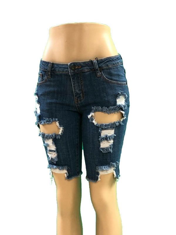 Clingers Ripped Jean Shorts