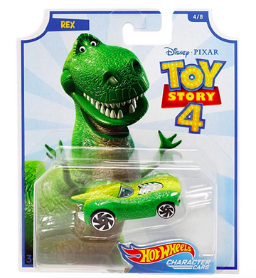 2019 Hot Wheels Disney Pixar Toy Story 4 Character Cars #4 Rex
