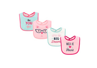 Luvable Friends 4-Pack Baby Bibs