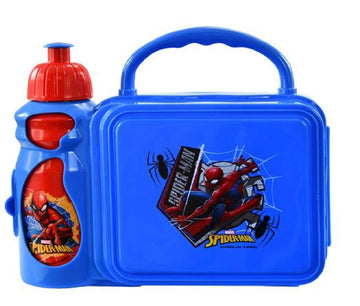 UPD Spiderman Combo Lunch Box with Water Bottle, Small, Multicolor