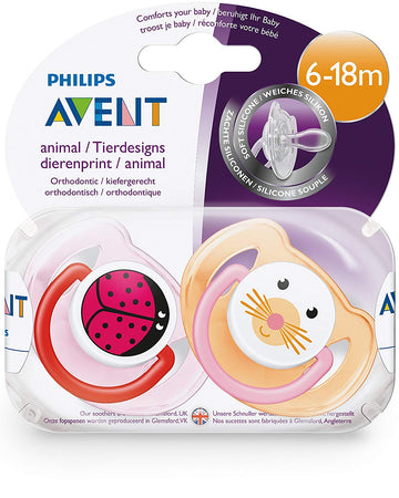 Philips Avent Ultra 6-18 Months+ Animal Avent Silicone Soothers