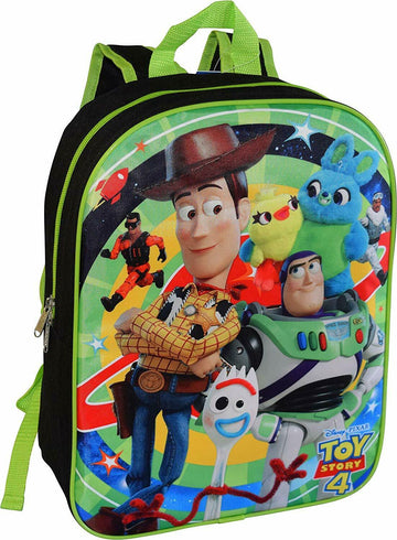"""16/"""" Backpack Toy Story 4 with Detachable Matching Lunch Box School Book Bag"""