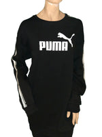 Puma Classic Tape Crewneck Sweatshirt in Black