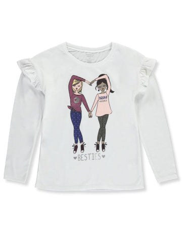 French Toast Girls' Besties Long Sleeve Top