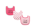 Luvable Friends 3 Pack Baby Girl Bibs