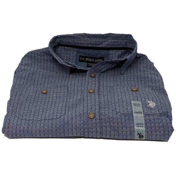 U.S. POLO ASSN. BOYS' PATTERNED L/S BUTTON-DOWN