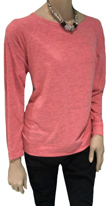 Calvin Klein Pink Plus Size Long Sleeve Activewear Athleisure Top