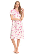 Lati Fashion Short Sleeve Sleepwear Cotton Pajamas Style# 801 Pink