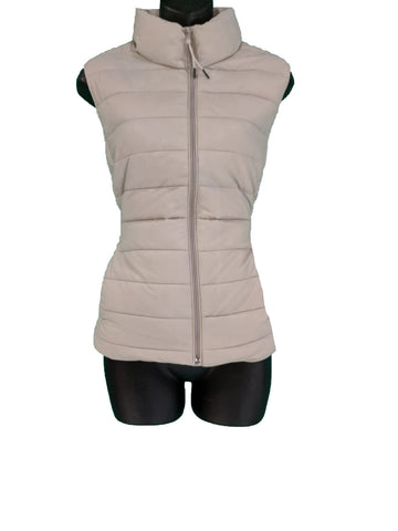 Gap Beige Puffer Zip up Jacket vest with pockets