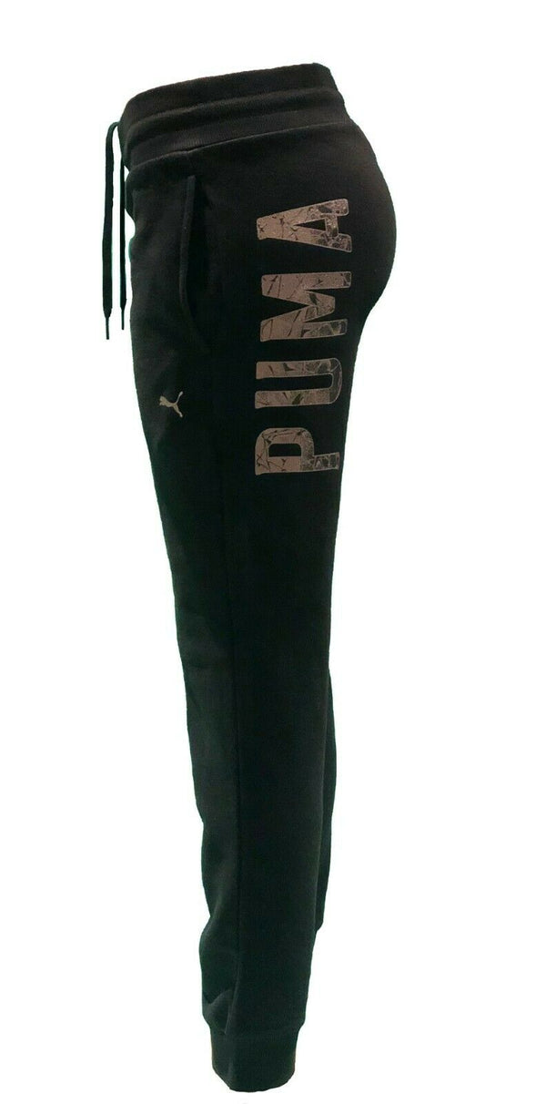 Puma Essentials Women's Fleece Sweatpants Knitted Pants Basics Black