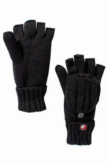 Canada Weather Gear Convertible Gloves in Black 100% Acrylic