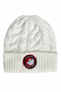 Canada Weather Gear Chenille Beanie Hat Acrylic White