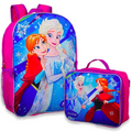 "Frozen 2 Anna Elsa 16"" Backpack with Detachable Matching Lunch Box"
