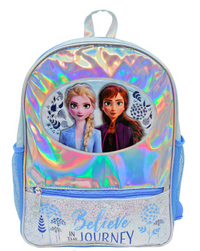 "Frozen 2 Foil 16"" Backpack Book bag with Glitter Front Pocket"