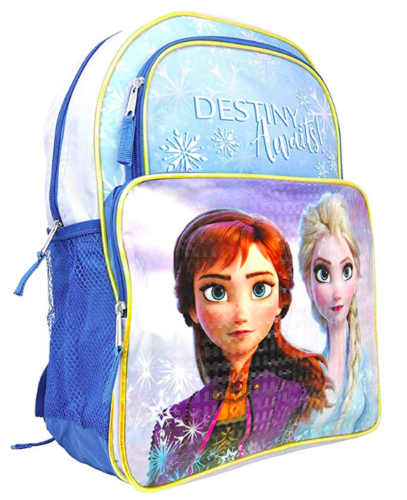 "Frozen 2 16"" Backpack Schoolbag Destiny Awaits with Lower Front Pocket"