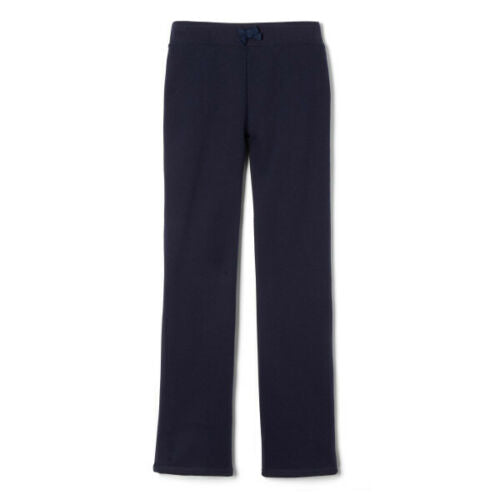 French Toast Navy Fleece Sweatpants Straight Leg with Bow