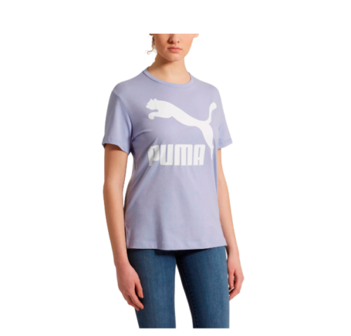 PUMA Classic Logo Tee in Sweet Lavender