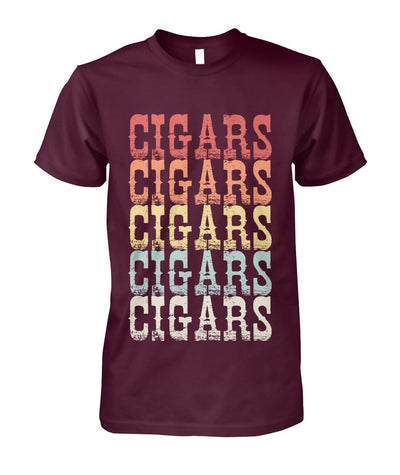 Vintage Retro 70s CIGAR - Cigars Lovers Club - Cigar Apparels, Shirts, Mugs, Posters...
